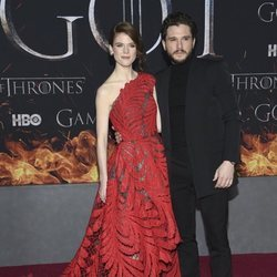 Kit Harington y Rose Leslie en la premiere de la octava temporada de 'Juego de Tronos'