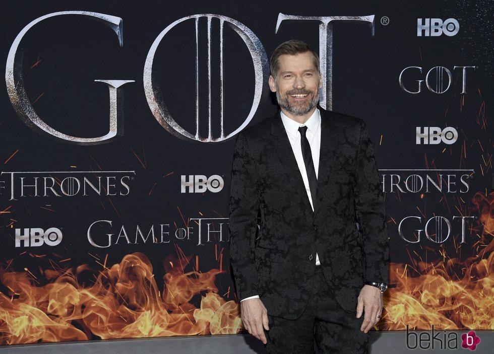 Nikolaj Coster en la premiere de la octava temporada de 'Juego de tronos'