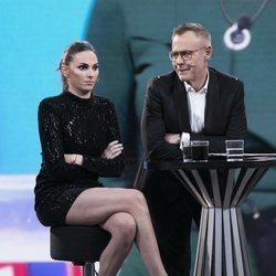 Irene Rosales y Jordi González en el plató de 'GH DÚO'  durante la gala 14