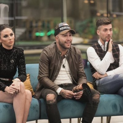 Irene Rosales, Kiko Rivera y Alejandro Albalá durante un momento de la gala 14 de 'GH DÚO'