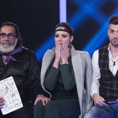 Juanmi, María Jesús Ruiz y Alejandro Albalá en la gala 14 de 'GH DÚO'