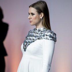 Manuela Vellés presumiendo de embarazo en la presentación de la sede de Netflix en Europa
