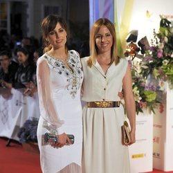 Natalia y Celia de Molina acuden al estreno de 'Techo y comida'en el Festival de Málaga 2015