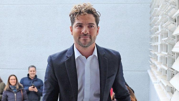 David Bisbal llegando a los juzgados tras su cita con Elena Tablada