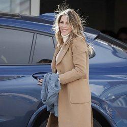 Rosanna Zanetti saliendo del hospital tras dar a luz