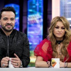 Luis Fonsi y Paulina Rubio en una entrevista en 'El Hormiguero'