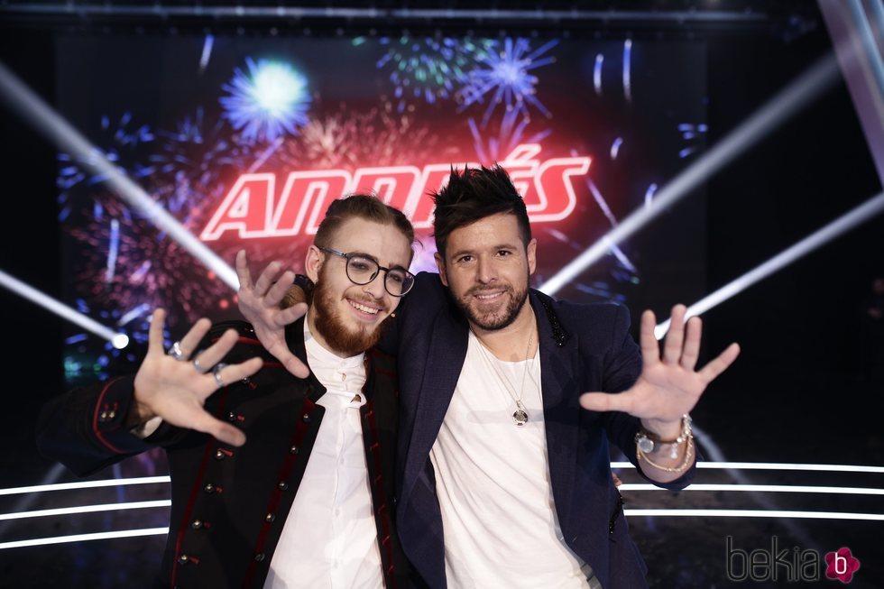 Pablo López y Andrés Martín tras ganar 'La Voz'