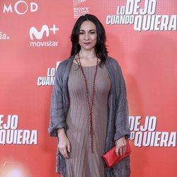 Isabel Serrano en la premiere de 'Lo dejo cuando quiera'