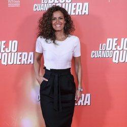 Laura Madrueño en la premiere de 'Lo dejo cuando quiera'