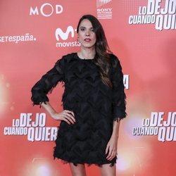 Laia Alemany en la premiere de 'Lo dejo cuando quiera'