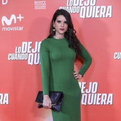 Ana Caldas en la premiere de 'Lo dejo cuando quiera'