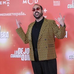 Alberto Velasco en la premiere de 'Lo dejo cuando quiero'