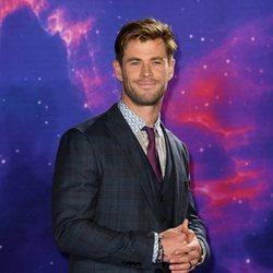 Chris Hemsworth en el interior de la premiere  de 'Los Vengadores: Endgame'