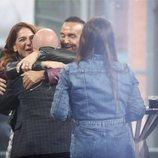 Kiko Rivera con Raquel Bollo y Luís Rollán en la final de 'GH DÚO'