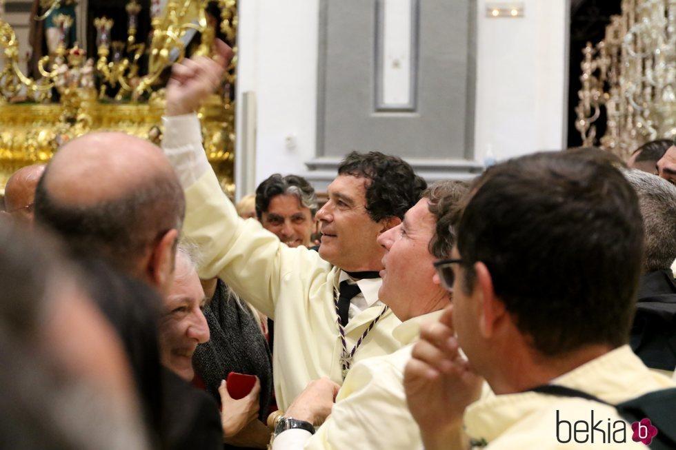 Antonio Banderas en la Semana Santa de Málaga 2019