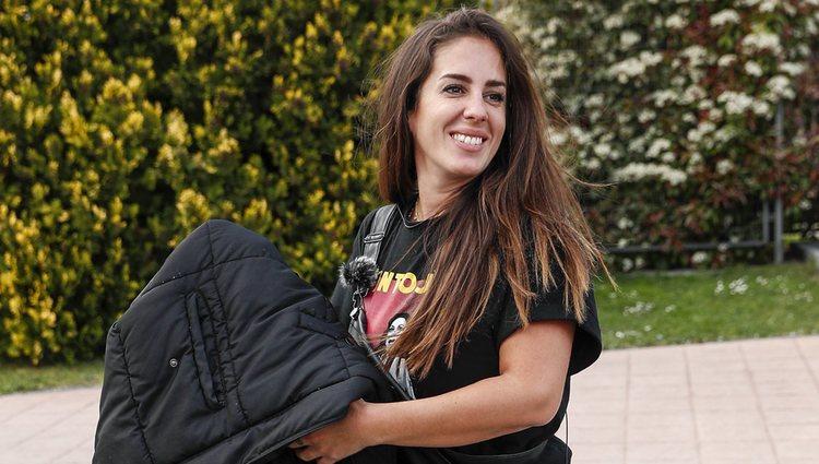 Anabel Pantoja llegando a Telecinco para la final de la primera edición de 'Sálvame Okupa'
