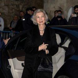 La Reina Sofía a su llegada al concierto a beneficio de Proyecto Hombre en Mallorca