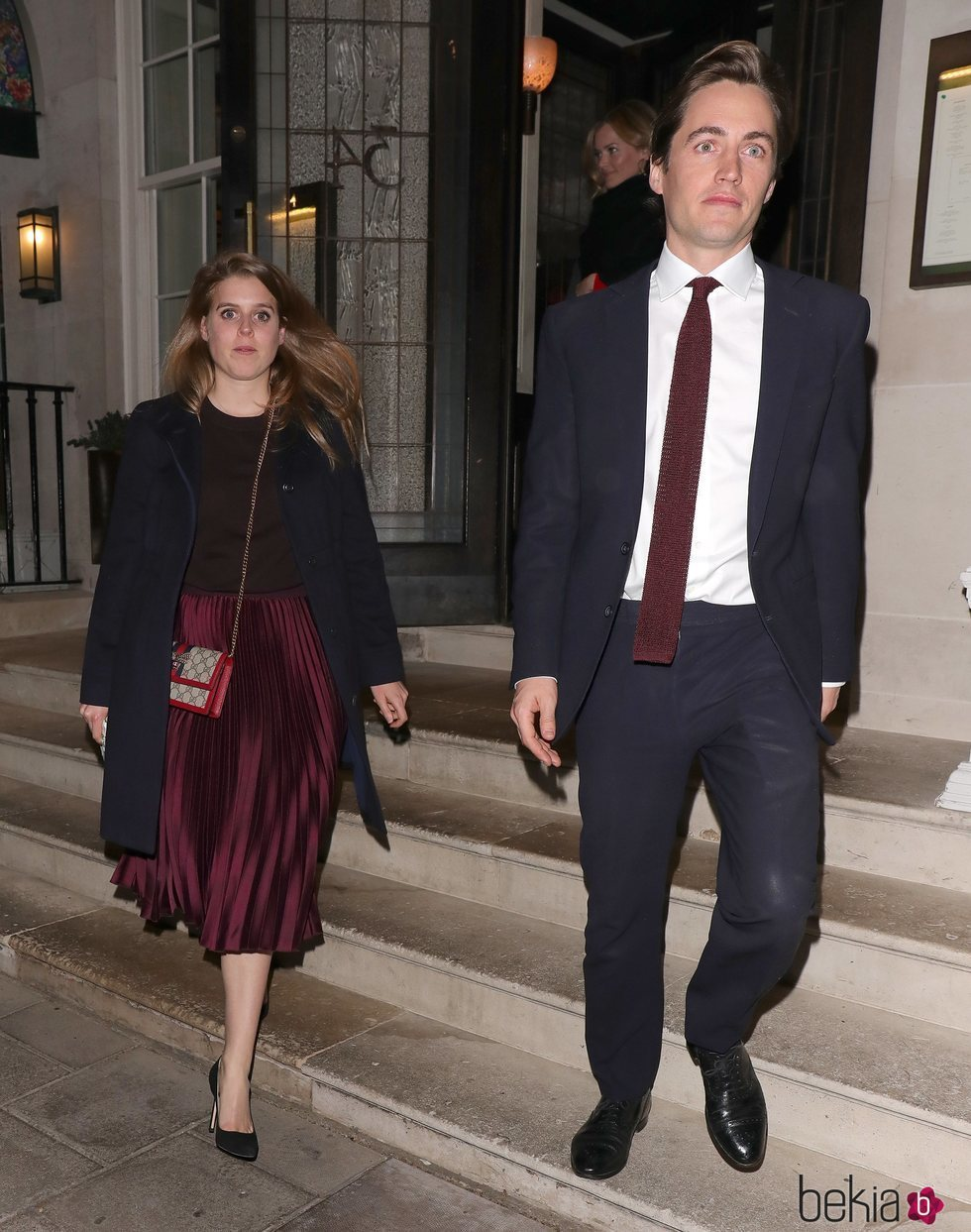 Beatriz de York y Edoardo Mapelli Mozzi tras cenar con Sarah Ferguson