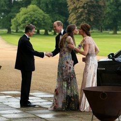 El Príncipe Guillermo y Kate Middleton con David Cholmondeley y Rose Hanbury