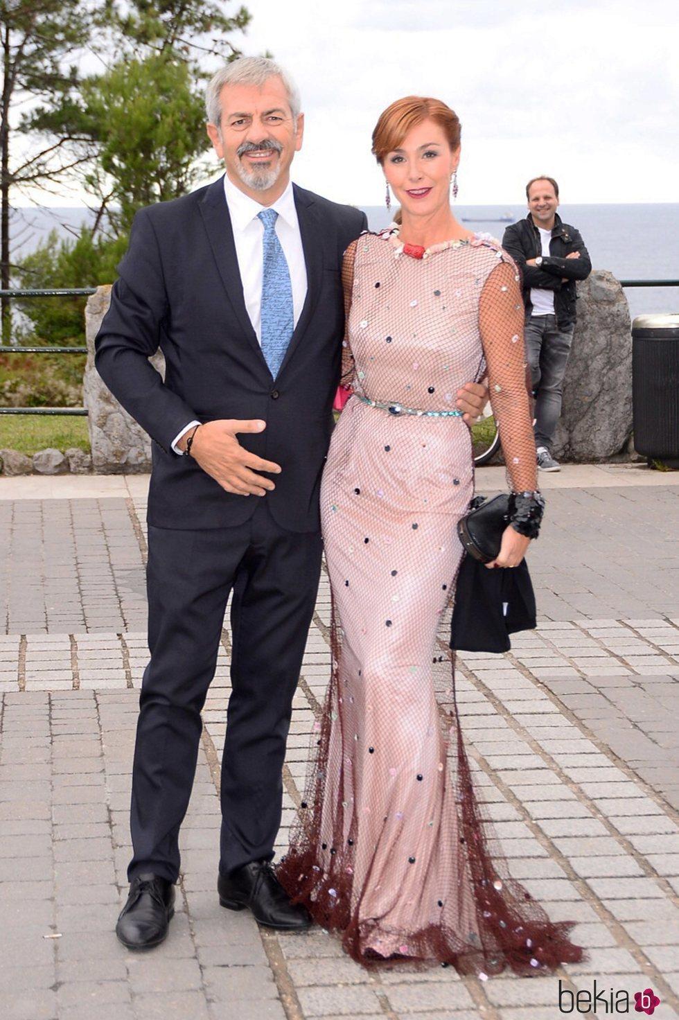 Carlos Sobera y Patricia Santamarina en la boda de Marta Hazas