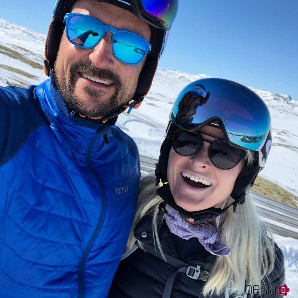 Haakon y Mette-Marit de Noruega durante sus vacaciones de Semana Santa 2019