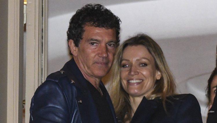 Antonio Banderas y Nicole Kimpel en la Semana Santa de Málaga 2019