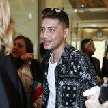Jonathan, hijo de Cristina Pujol, en el aeropuerto rumbo a 'Supervivientes 2019'