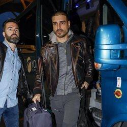 Fabio Colloricchio en el aeropuerto rumbo a 'Supervivientes 2019'