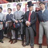 Francisco Rivera, Cayetano Rivera, José Antonio Canales en el homenaje a José Rivera