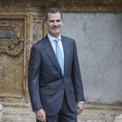 El Rey Felipe VI sale de la Misa de Pascua 2019