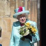 La Reina Isabel acudiendo a la Misa de Pascua 2019