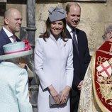 Kate Middleton, muy sonriente antes de la Misa de Pascua 2019 en Windsor