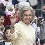 La Reina Sofía en la Misa de Pascua 2019
