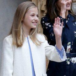 La Princesa Leonor en la Misa de Pascua 2019