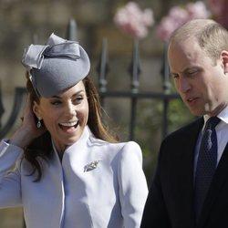 El Príncipe Guillermo y Kate Middleton, muy felices en la Misa del Domingo de Pascua 2019