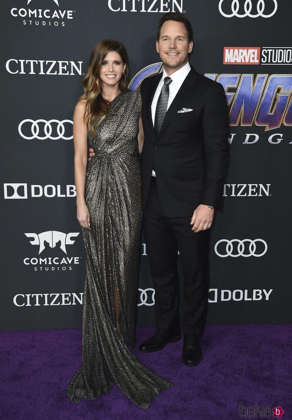 Chris Pratt y Katherine Schwarzenegger en la premiere de 'Vengadores: Endgame'