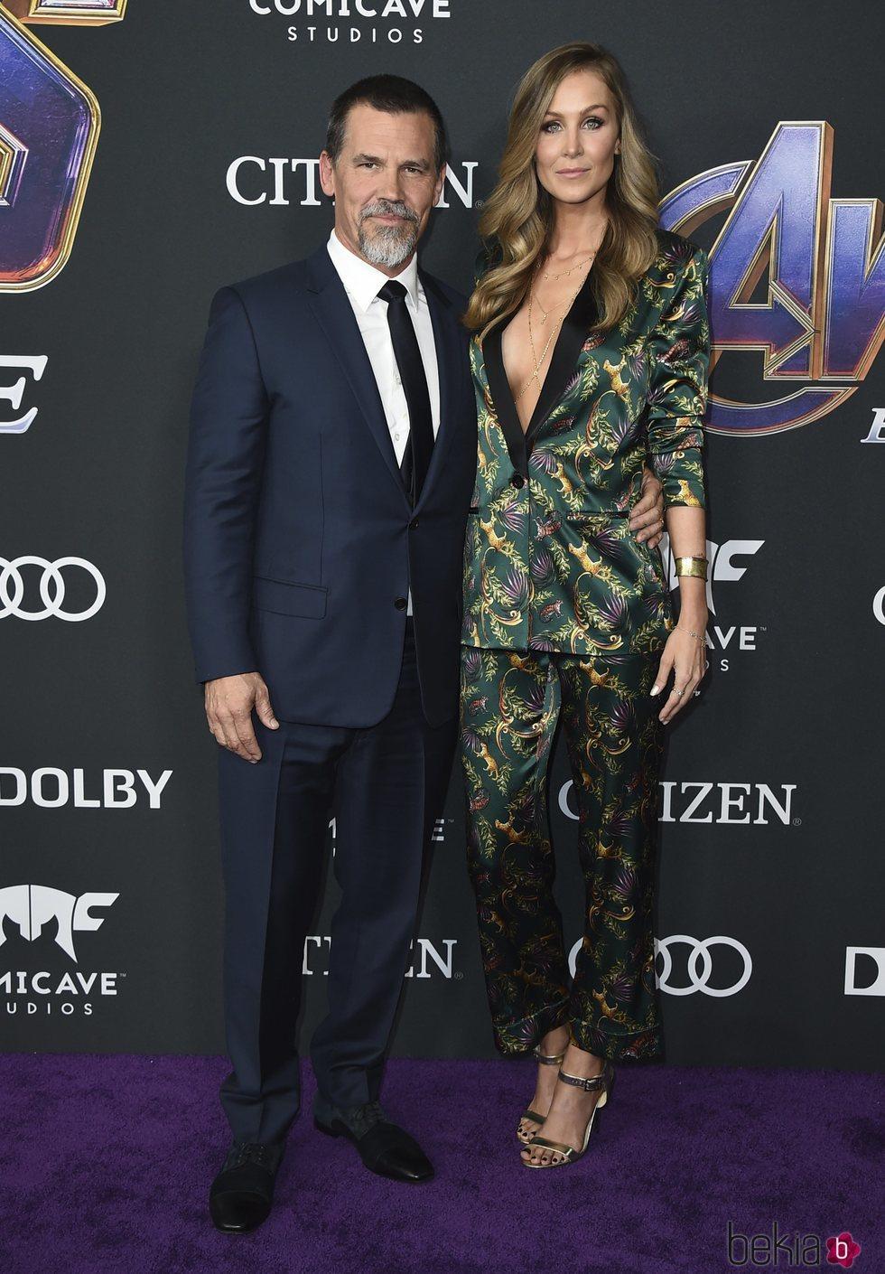 Josh Brolin y Kathryn Boyd  en la premiere de 'Vengadores: Endgame'