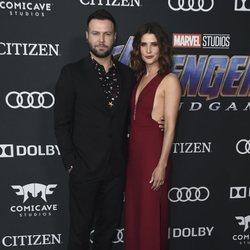 Cobie Smulders y Taran Killam  en la premiere de 'Vengadores: Endgame'