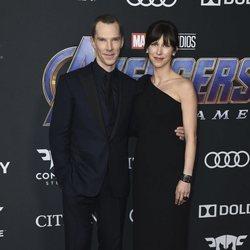 Benedict Cumberbatch y Sophie Hunter en la premiere de 'Vengadores: Endgame'