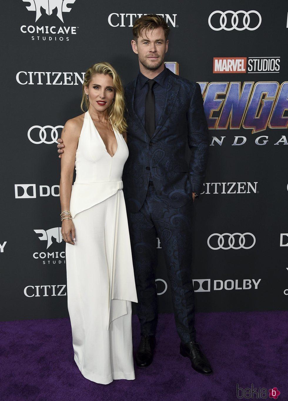 Elsa Pataky y Chris Hemsworth en la premiere de 'Vengadores: Endgame'