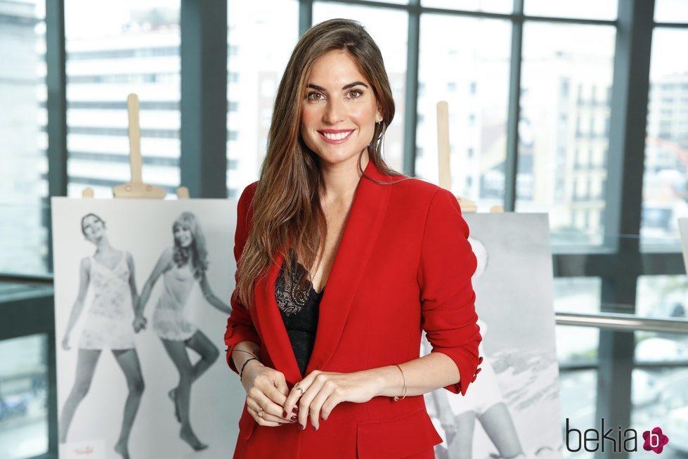 Lourdes Montes en la presentación de la colección 'Amourette' de la firma Truimph