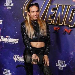 Aless Gibaja en la premiere de 'Los Vengadores: Endgame' en Madrid