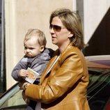La Infanta Cristina luce embarazo con su hijo Pablo Urdangarin en brazos