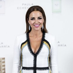 Paula Echevarría en la presentación de su nueva colección de maquillaje y fragancias