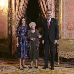 Los Reyes Felipe y Letizia en el almuerzo en honor a la ganadora del Premio Cervantes