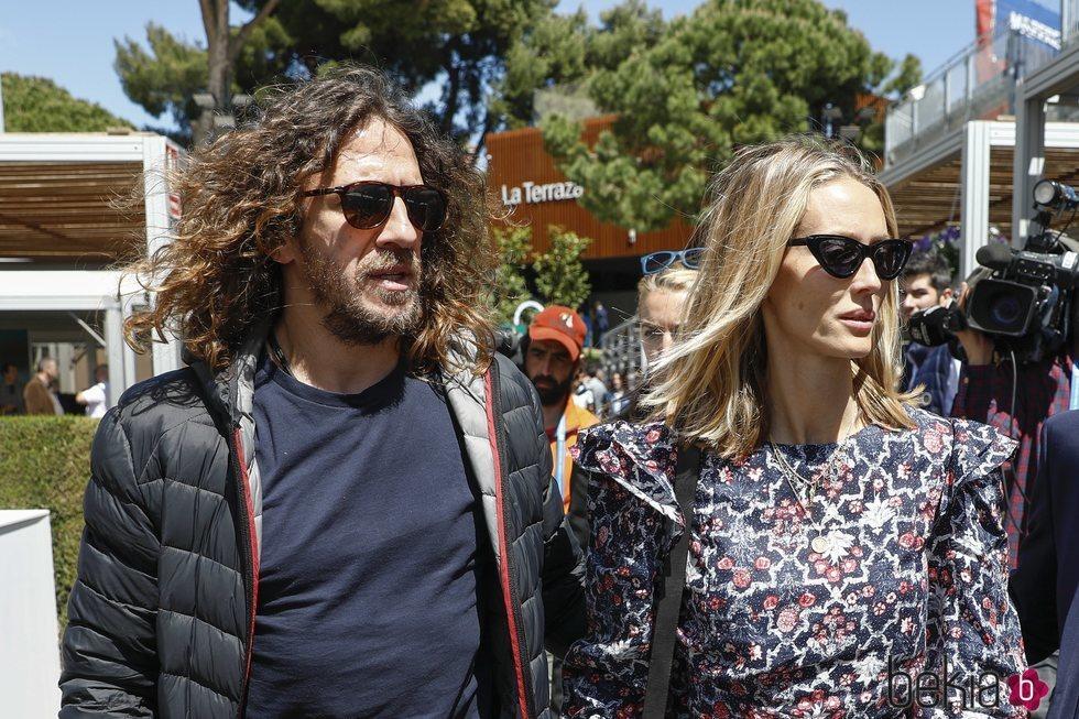 Carles Puyol y Vanesa Lorenzo en el torneo de Conde Godó 2019
