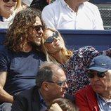 Carles Puyol y Vanesa Lorenzo, muy cariñosos en el torneo de Conde Godó 2019