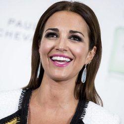 Paula Echevarría, muy sonriente en la presentación de su colección de maquillaje