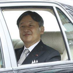 EL Príncipe Heredero Naruhito llega a la ceremonia de abdicación del Emperador Akihito el 30 de abril de 2019