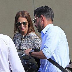 Paula Echevarría y Miguel Torres, preparándose para viajar a Málaga